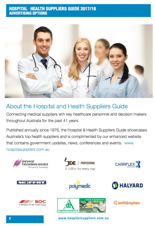 Hospital Suppliers Media Kit page 2